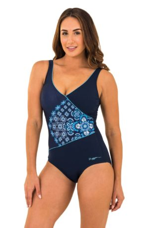 Zoggs One Piece Craftwork Swimsuit