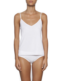 essence cami shoestring white
