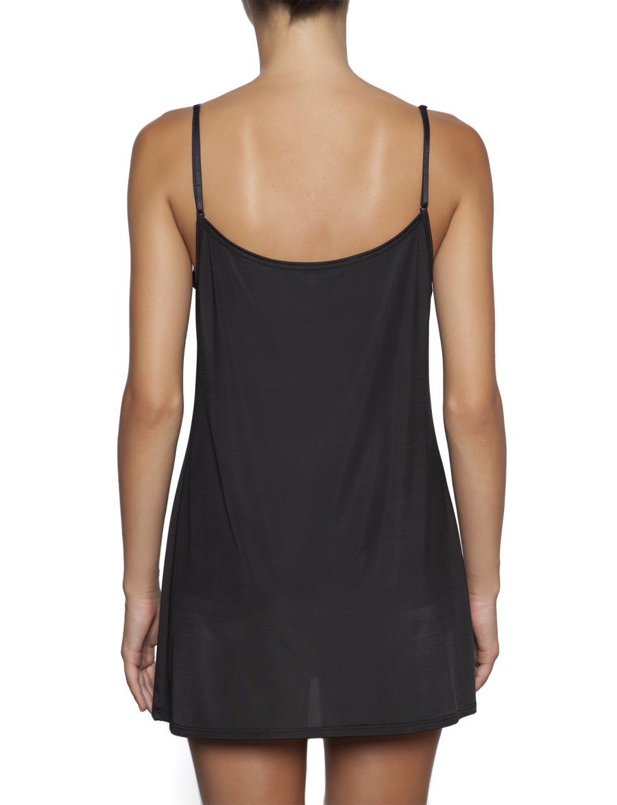 essence reversible tunic slip black