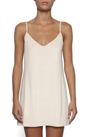 essence reversible nude tunic slip